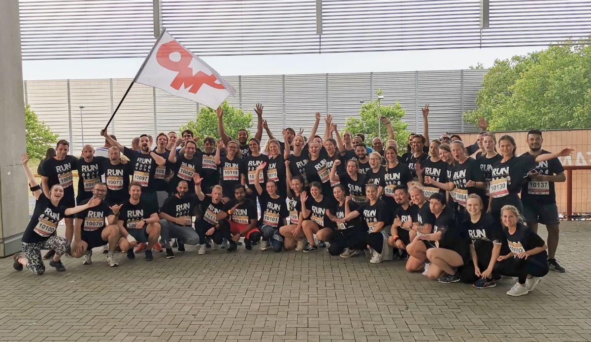 Voller Einsatz: OMD Düsseldorf beim b2run Firmenlauf
